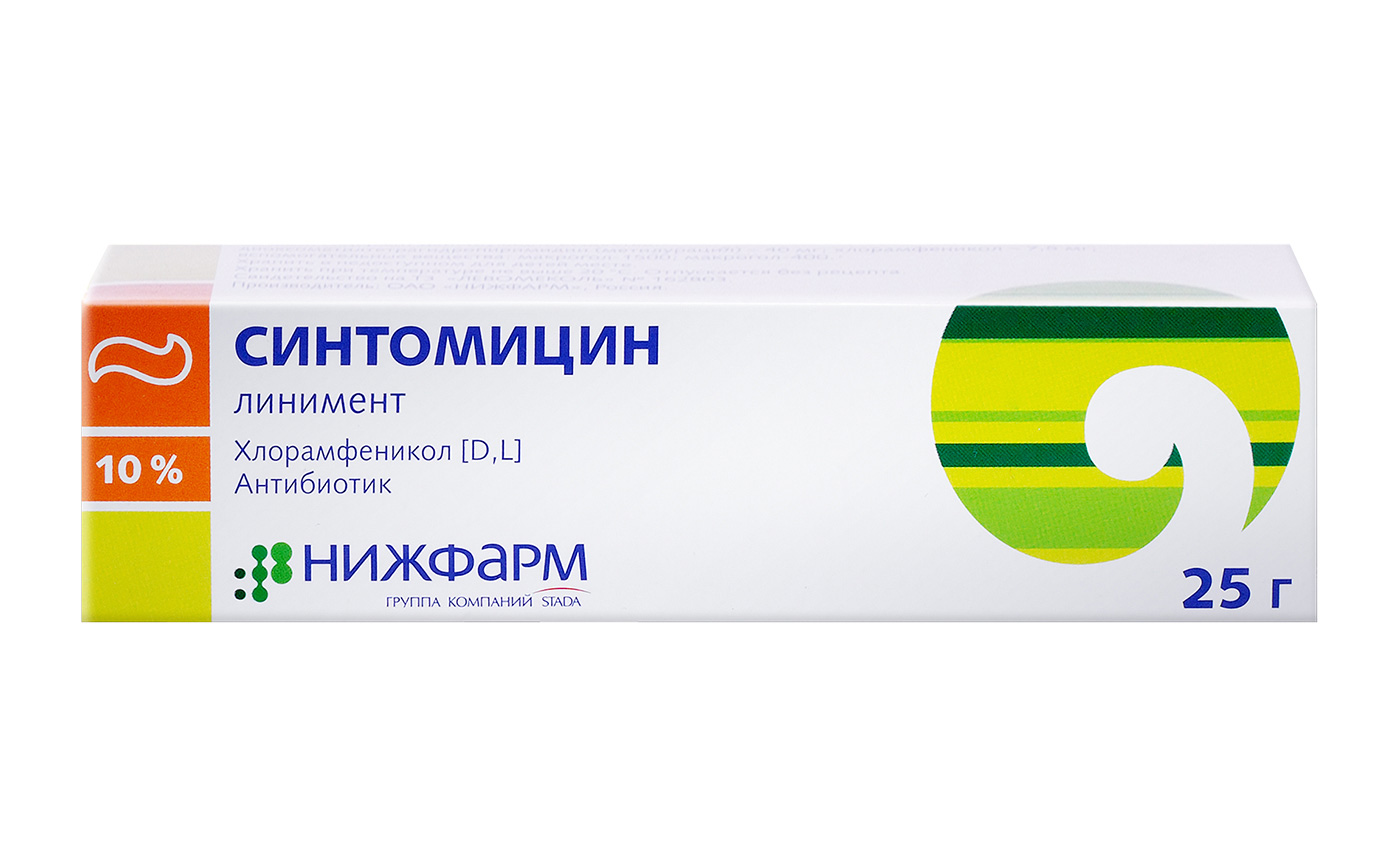 Синтомицина линимент   Linimentum synthomycini