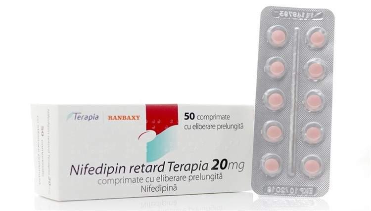 Нифедипин 20 ретард | Nifedipinum 20 retard