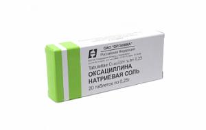 Оксациллина натриевая соль в таблетках | Oxacillin sodium tablets