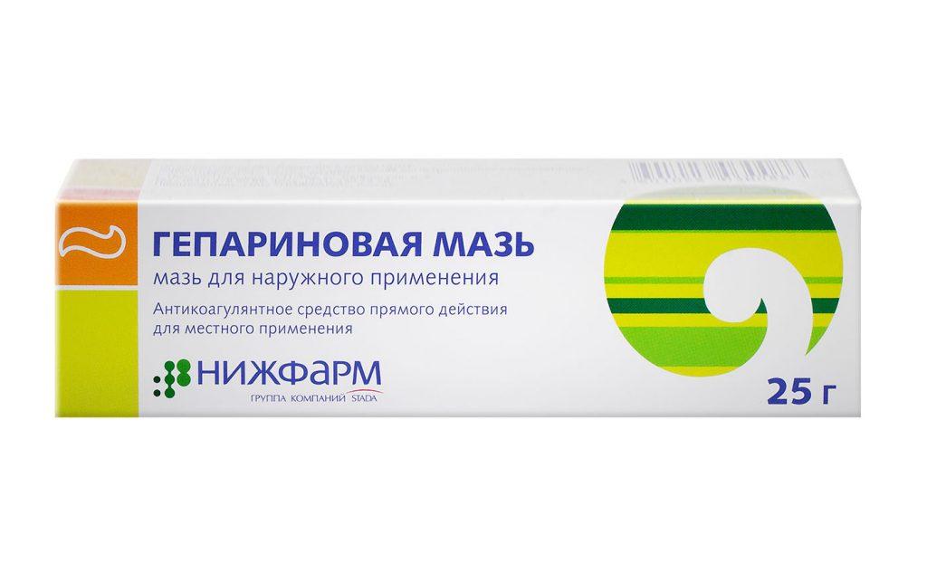 Гепариновая мазь   Unguentiun heparini