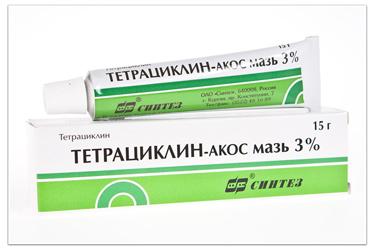 Тетрациклиновая мазь 3%   Unguentum tetracyclini